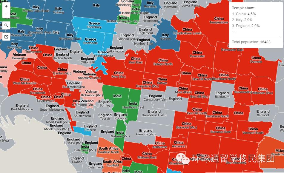 墨尔本留学移民 中国移民占领了大维州